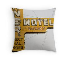Westerner Motel. Throw Pillow