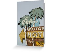 The Palms left. Greeting Card