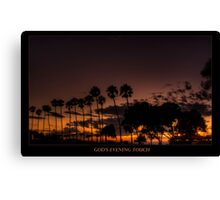 God's Evening Touch Canvas Print
