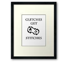 Glitches Get Stitches Framed Print