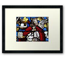 DETAIL/The Jesse Window, Llanrhaeadr Framed Print