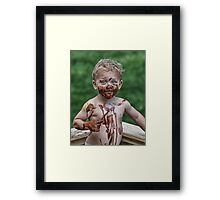 Painting Pudding Framed Print