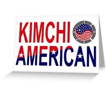 Kimchi American Multinational Patriot Flag Greeting Card