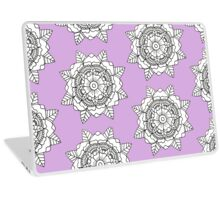 Floral Mandala: Black/White Laptop Skin