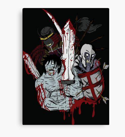 undead warriors Canvas Print