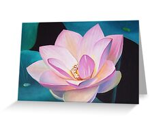 Lotus flower seishi Greeting Card