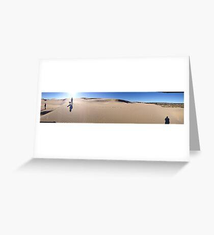 dunes walk  Greeting Card