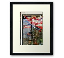 Reflections of Our Flag Framed Print