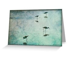 Stilts in Blue Greeting Card