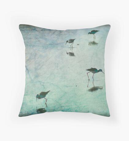 Stilts in Blue Throw Pillow