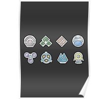 The Sinnoh Gym Badges Poster
