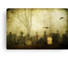 Foggy Cemetery  Canvas Print