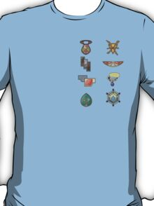 The Kalos Gym Badges T-Shirt