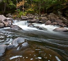 auger falls in autumn by erumsey