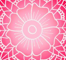 Floral Mandala: Pink/White Sticker