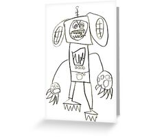 Dogbot Mech by Roo8rz Greeting Card