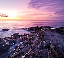 sunrise over beavertail park jamestown, ri by erumsey