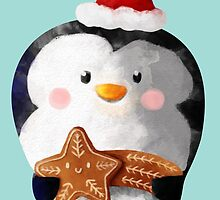 Cute Christmas Penguin by colonelle