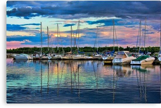 Hecla Island Boats by Teresa Zieba
