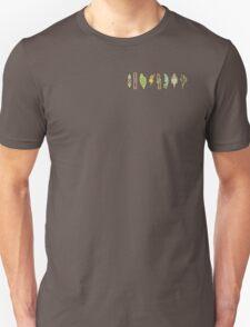The Unova Gym Badges (B&W) T-Shirt