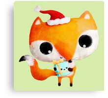 Cute Christmas Fox Canvas Print