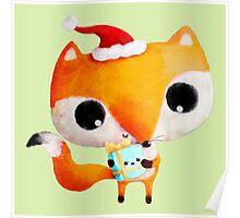 Cute Christmas Fox Poster