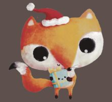 Cute Christmas Fox Baby Tee
