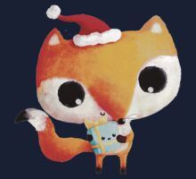 Cute Christmas Fox Kids Tee