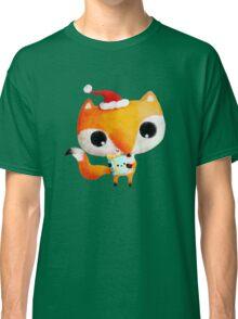 Cute Christmas Fox Classic T-Shirt