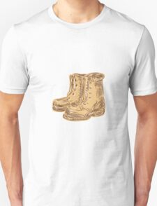 Boots Old Etching T-Shirt