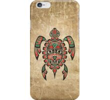 Red and Green Haida Spirit Sea Turtle iPhone Case/Skin