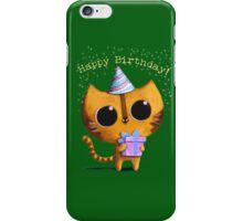 Cute Birthday Cat iPhone Case/Skin
