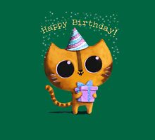 Cute Birthday Cat Unisex T-Shirt
