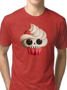 Delicious Skull Cupcake Tri-blend T-Shirt