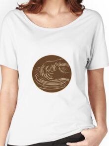 Hand Shaping Pottery Clay Etching Women's Relaxed Fit T-Shirt