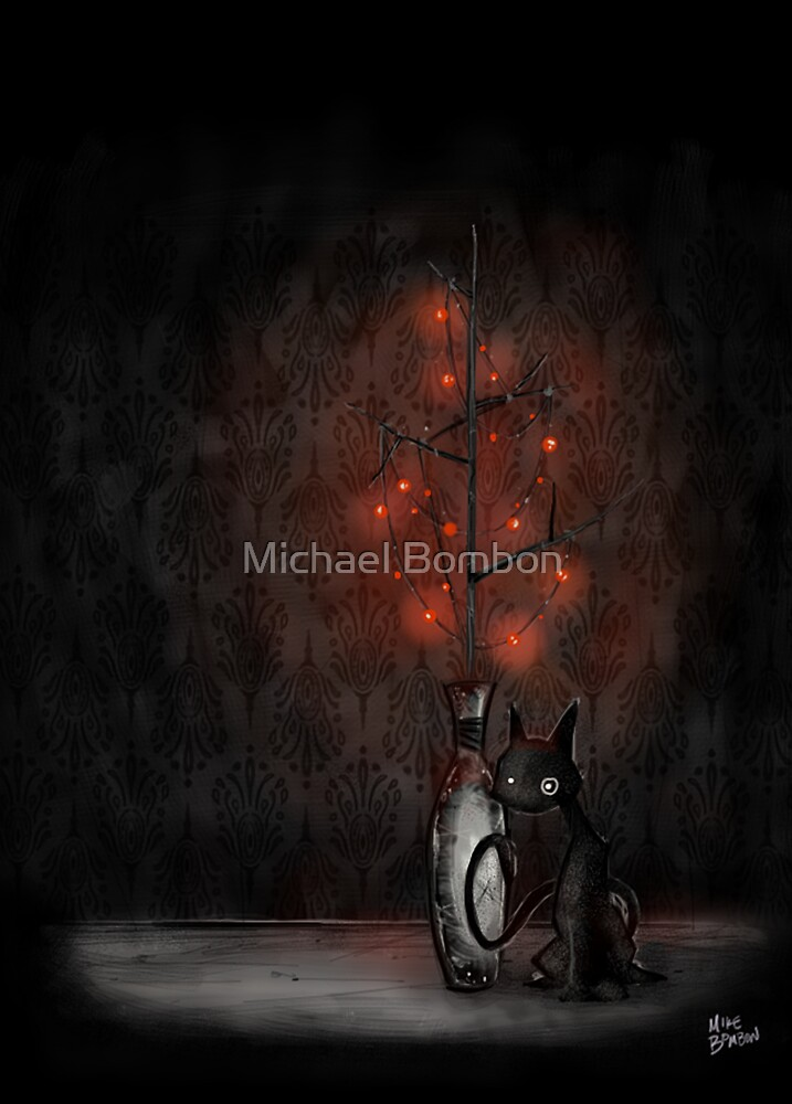 Holiday Cat by Michael Bombon
