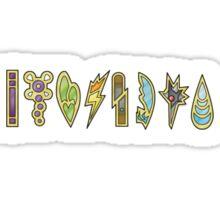 The Unova Gym Badges (B&W 2) Sticker