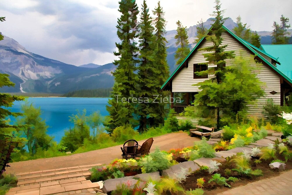 Emerald Lake Yoho National Park by Teresa Zieba