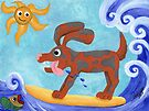 Bongo Catches a Wave by Kayleigh Walmsley