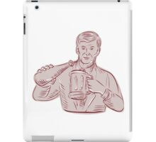 Man Pouring Beer Mug Etching iPad Case/Skin