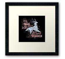 Blade Runner Sci Fi Science Fiction Ridley Scott Harrison Ford Unicorn Origami  Framed Print