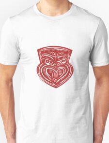 Maori Mask Etching T-Shirt