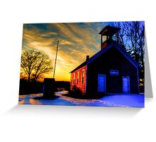 The Old Abandoned Schoolhouse Greeting Card