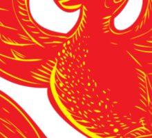Phoenix Rising Etching Sticker