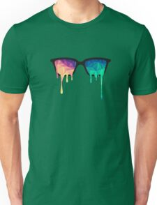 Abstract Polygon Multi Color Cubism Low Poly Triangle Design Unisex T-Shirt