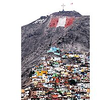 Colour on the Hill, Lima - Peru Photographic Print