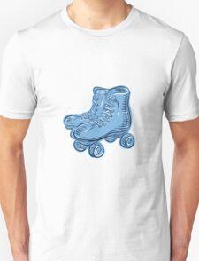 Roller Skates Vintage Etching T-Shirt