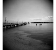 Pier At Dusk Photographic Print