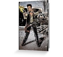 Elvis Han Solo Collage Art Home Decor, Elvis Presley, Star Wars, Harrison Ford, Millenium Falcon, Death Star Greeting Card