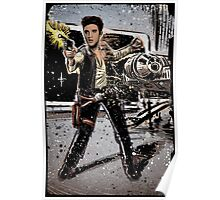 Elvis Han Solo Collage Art Home Decor, Elvis Presley, Star Wars, Harrison Ford, Millenium Falcon, Death Star Poster